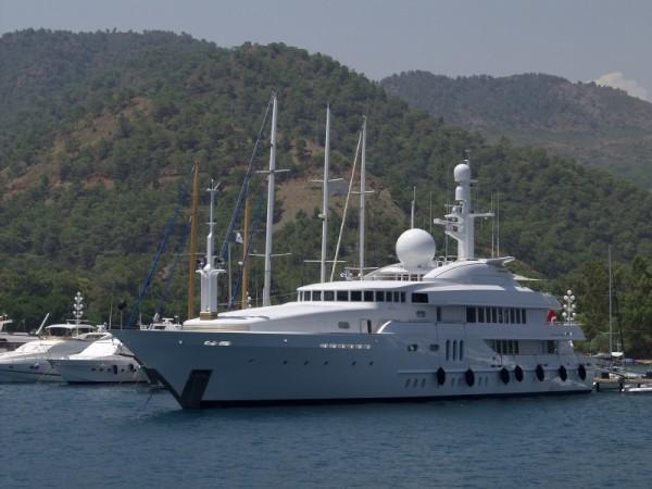 A superyacht at Göcek near Fethiye, Turkey