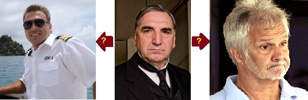 Aleks of Below Deck and Captain Lee of Below Deck Who is Mr Carson from Downton Abbey