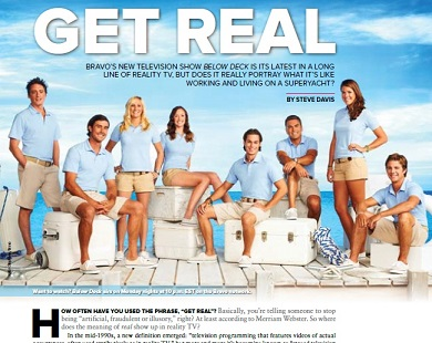Below Deck Article in Dockwalk Magazine September 2013
