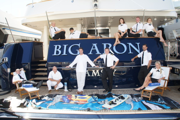 "Crew of M/Y ""Big Aron"" - circa 2011 Photo by Suki Finnerty of Yachting Today TV"