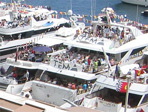Monaco Grand Prix Party on Superyacht