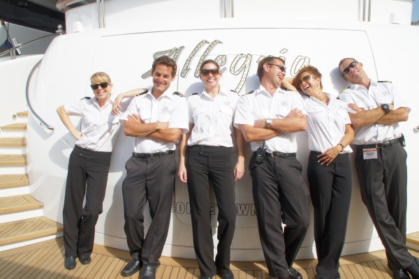 "The Crew of Megayacht ""Allegria"" (2010). Photo by Suki Finnerty of YachtingToday.TV"
