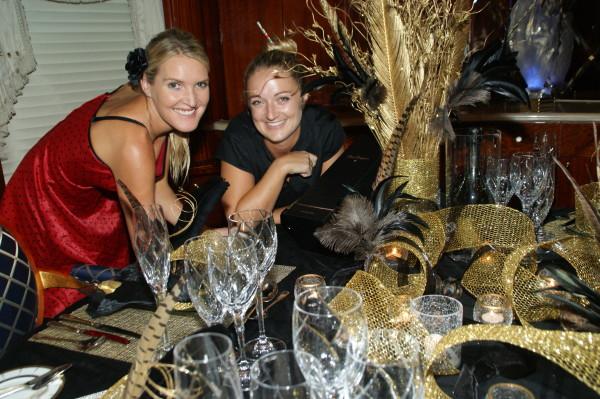 Gold and Black Theme Dinner Megayacht