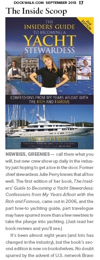 Dockwalk Coverage September 2013 Yacht Stewardess Book