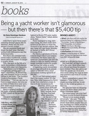 Indianapolis Star - Julie Perry - August 2013 - Yacht Stewardess Book