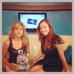 """Author, Julie Perry, and Below Deck's Adrienne Gang, on Indy Style, to talk about the 2nd Edition Release of """"The Insiders' Guide to Becoming a Yacht Stewardess"""" (for which Adrienne wrote the Foreword)."""