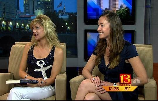 Author Julie Perry and Below Deck's Adrienne Gang on WTHR Channel 13 in Indianapolis to discuss Julie's yacht stewardess book.