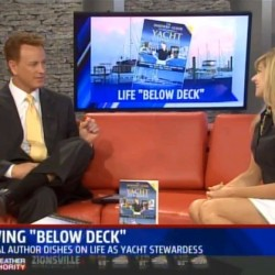"""Author Julie Perry Interviewed about """"The Insiders' Guide to Becoming a Yacht Stewardess"""" on Fox59 WXIN Indianapolis with Scott Jones"""