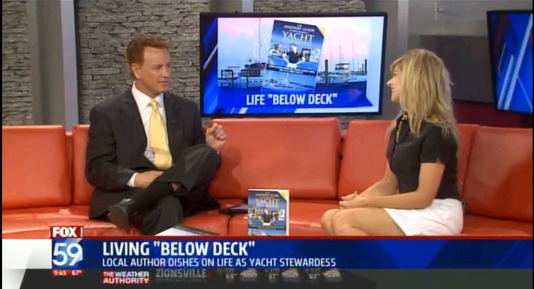 "Author Julie Perry Interviewed about ""The Insiders' Guide to Becoming a Yacht Stewardess"" on Fox59 WXIN Indianapolis with Scott Jones"