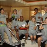 "Interior crew from M/Y ""Kogo"" Photo Copyright: Suki Finnerty of YachtingToday.TV"