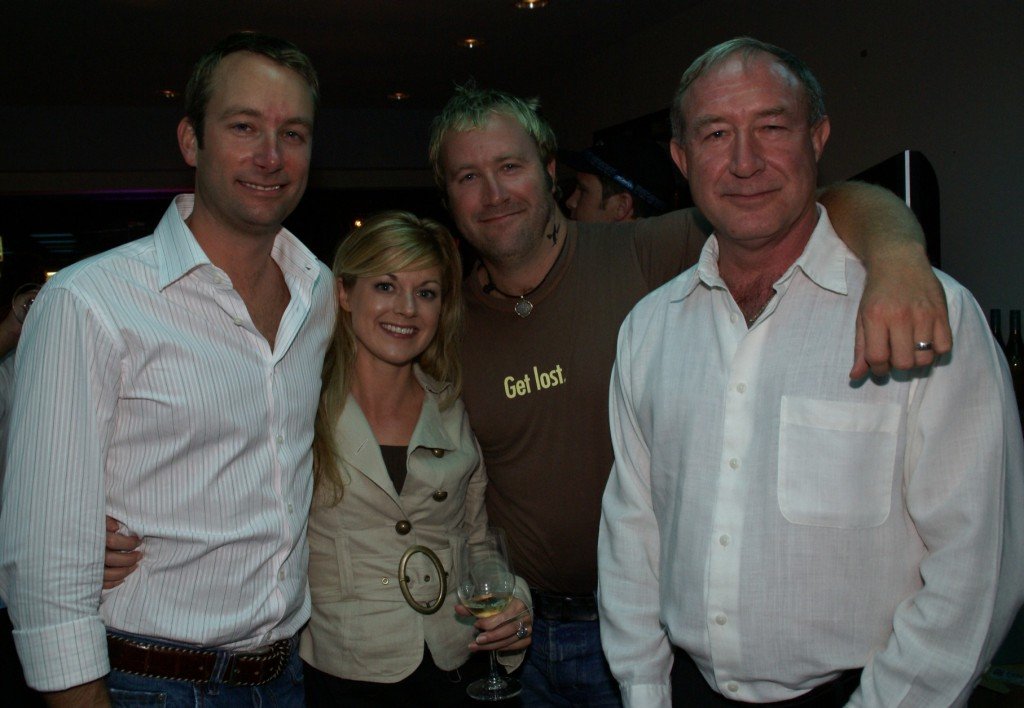 Julie Perry and Captains Carl Sputh, Ryan Sputh, and Ted Sputh 2006