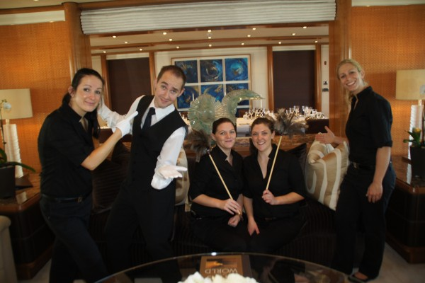 Superyacht Steward and Stewardesses Photo Credit: Suki Finnerty of YachtingToday.TV