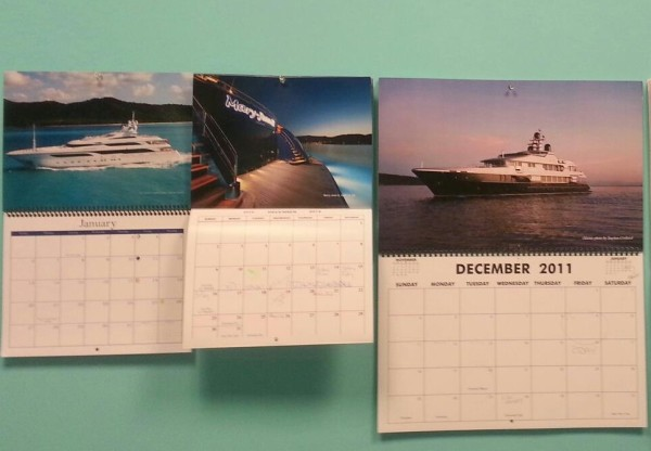 Megayacht News Wall Calendars from 2011, 2012, 2013
