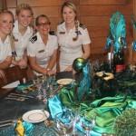 My Huntress table decoration suki finnerty yacht stews