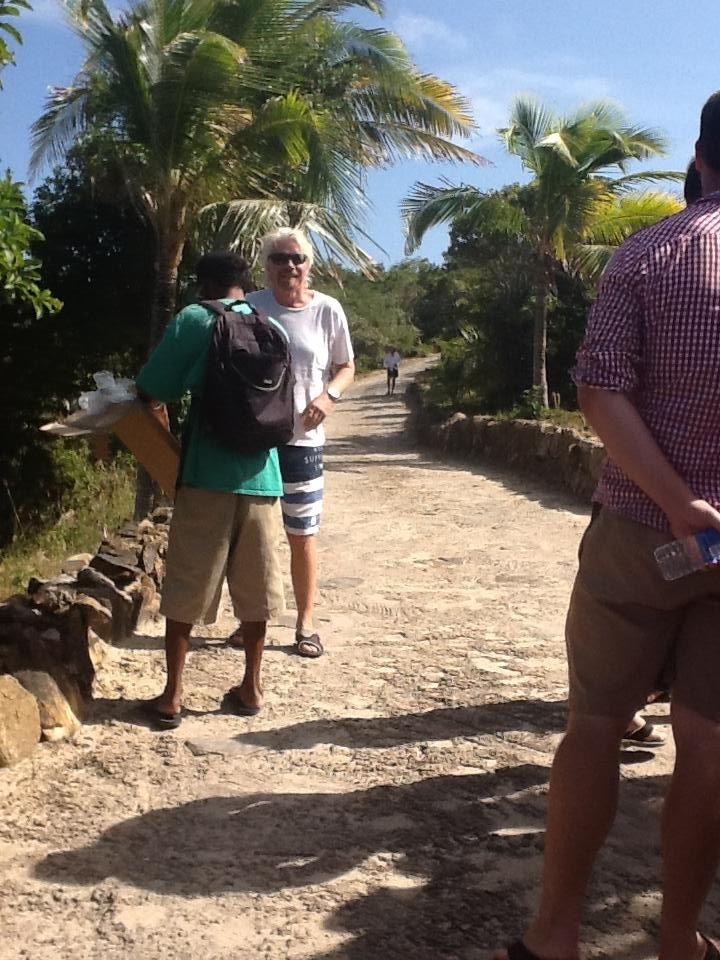 Richard Branson on Necker Island