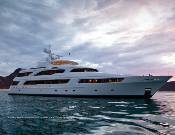 """Miss"" July - M/Y Arianna - from the MegaYacht News Spectacular Superyachts 2014"