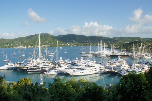 Superyachts in the Caribbean. Photo Credit: Suki Finnerty of YachtingToday.TV.