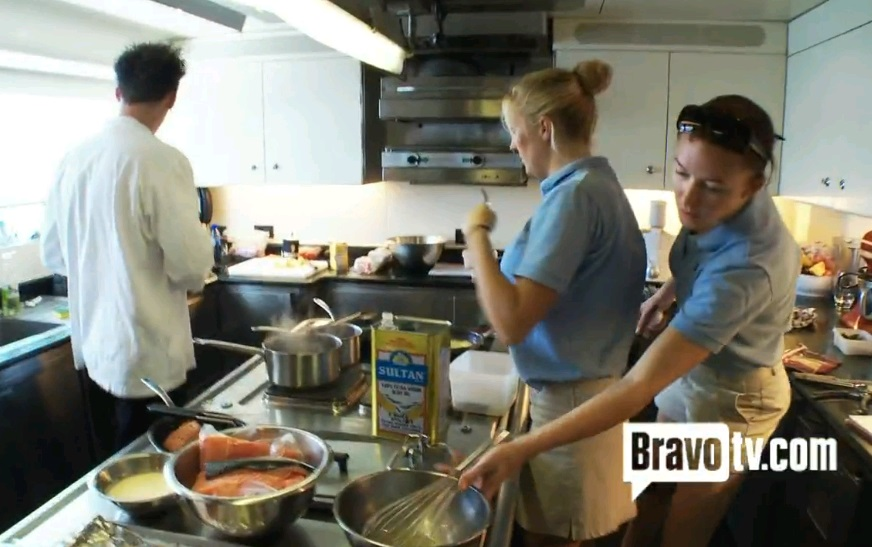 Yacht Chef Stewardess Dance with Below Deck Ben Kat Adrienne - - Story by Victoria Allman