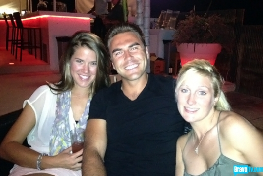 """Below Deck"" crew Sam Orme, Aleks Taldykin, and Kat Held, enjoy some time off the boat."