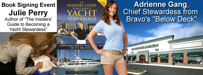 Below Deck's Adrienne Gang and author Julie Perry in Bloomington Indiana - Barnes and Noble for a book signing on Tueday, August 20th from 4-6PM