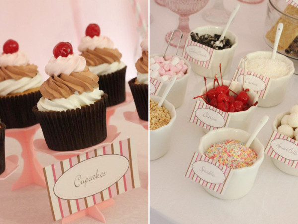 Ice cream sundae bar by Amy Atlas for yacht stews