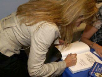 Julie Perry Signing Her Book