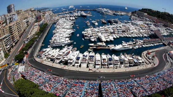 Monaco Grand Prix Superyachts and Crowd