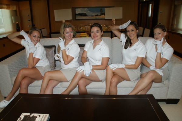 Yacht Stewardesses at Work